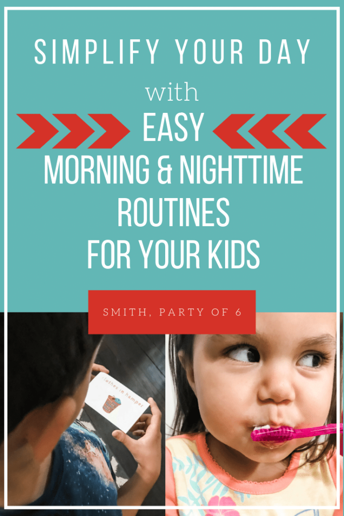 Simplify your day with easy routines for kids. Both morning and night routines to help your kids develop healthy habits. PLUS a simple way to help them be more independent in the morning and at night.