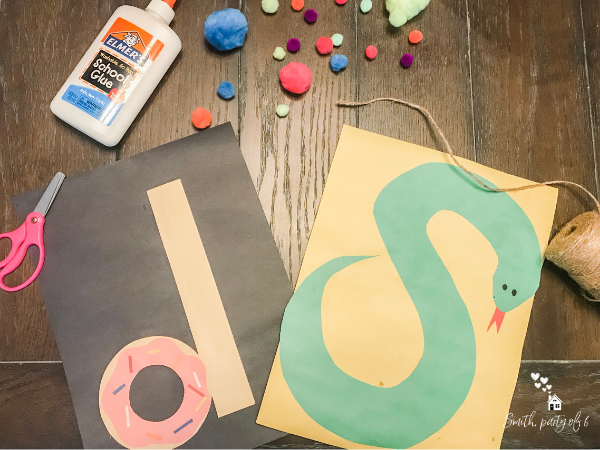 Letter Crafts -- Uppercase and Lowercase Letters