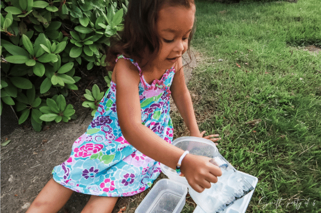 Pouring is a Heavy Work Activity that May Help Calm Your Child Down
