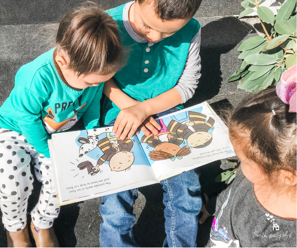 Kids Reading Outside -- Library Tips