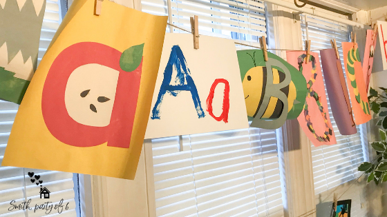Letter Crafts for Small Children -- Homeschooling a 2-Yer-Old