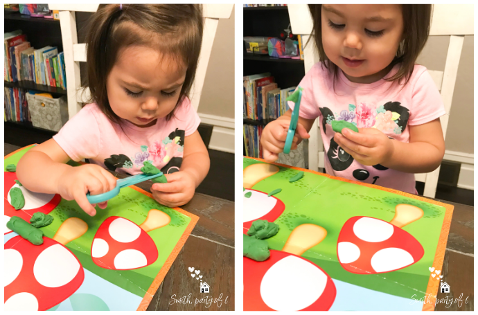 Cutting Play-Doh -- Fine Motor Activities