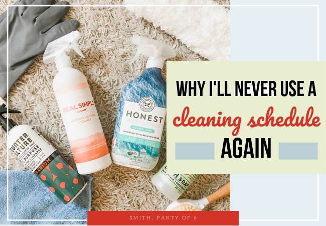 No Cleaning Schedule -- Get Motivated to Clean