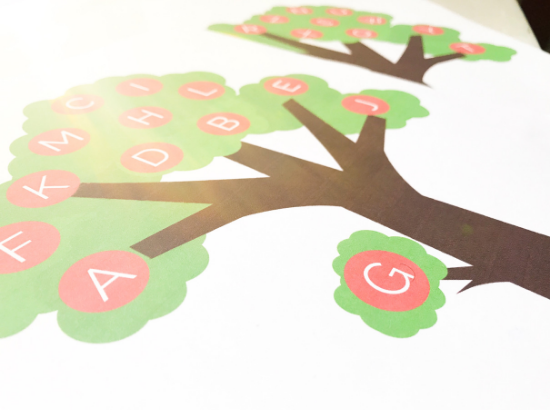 Letter Tree Printable -- Uppercase and Lowercase Letters