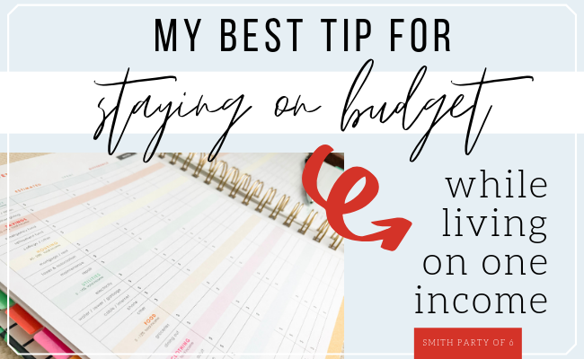 My Best Tip for Staying on Budget while Living on One Income