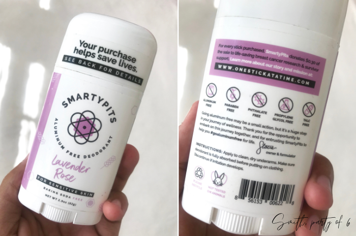 SmartyPits Aluminum Free Deodorant for Sensitive Skin - Lavender Rose