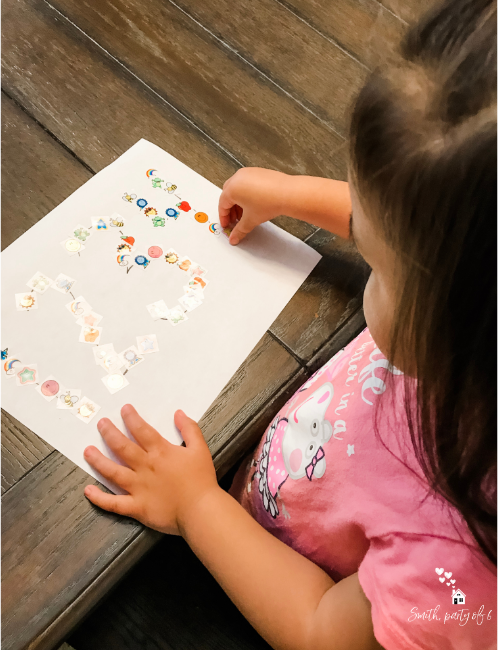 Sticker Tracing -- Fine Motor Activities