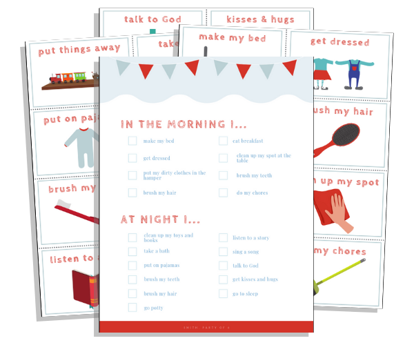 Morning & Nightly Routines for Kids -- Free Printables Pack