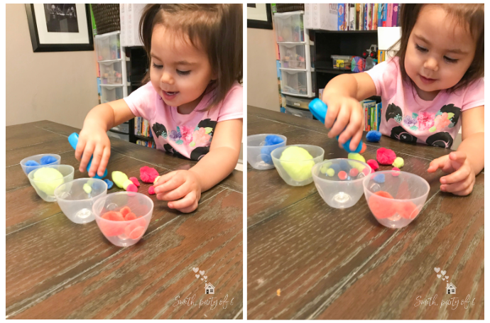 Sorting with Tongs -- Fine Motor Activities