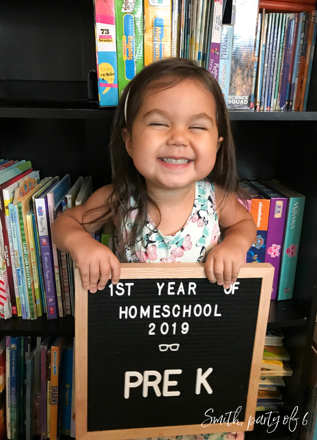 Arwyn's first day of homeschool 2019 | Pre-K